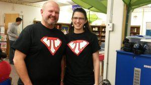 Ashley Lawson with her high school geometry teacher, Mr. Marty Erskine.