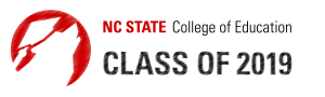 """An image stating """"NCState College of Education Class of 2019"""""""