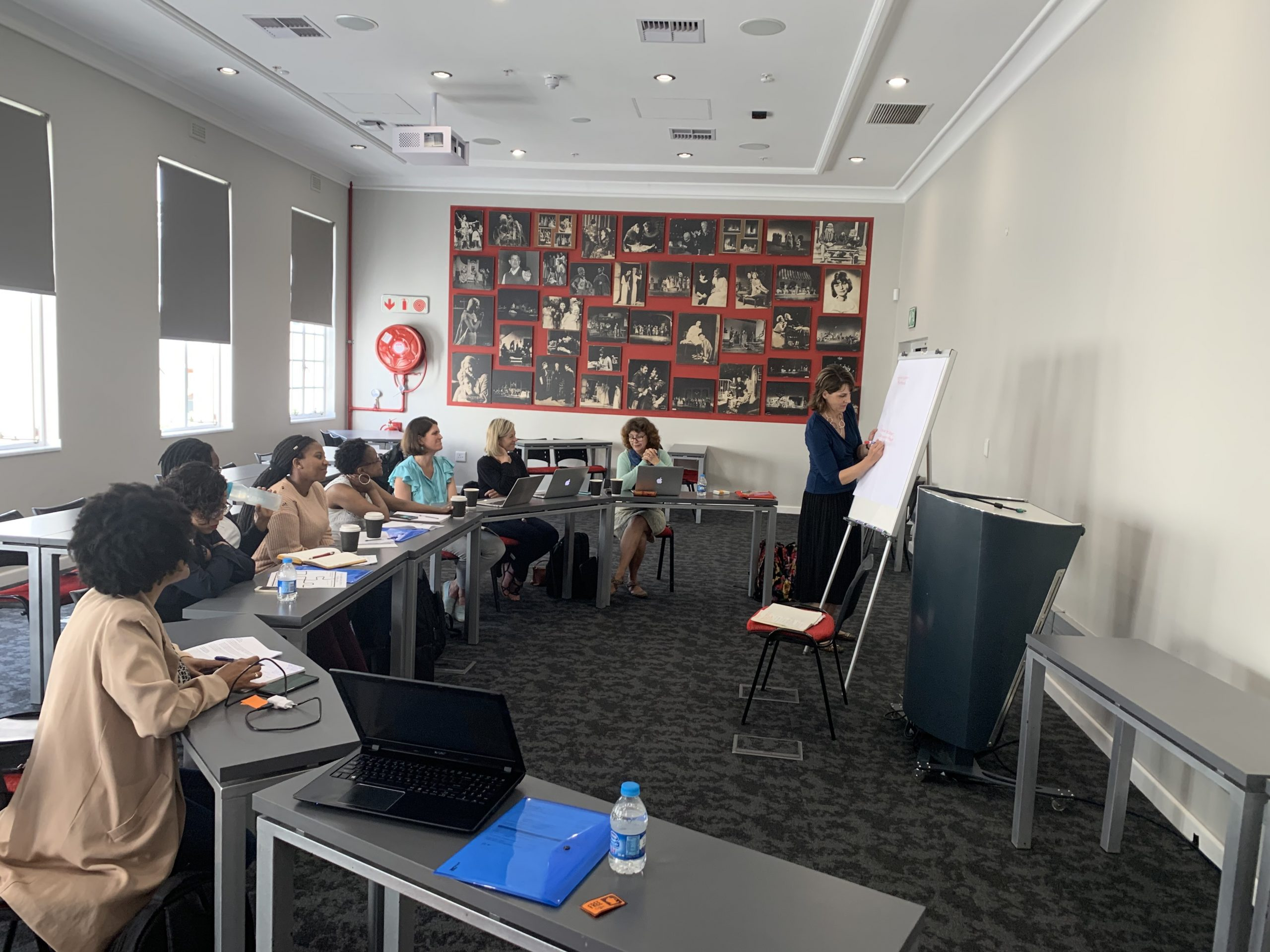 NCState College of Education Associate Professor Angela Wiseman at a conference in South Africa