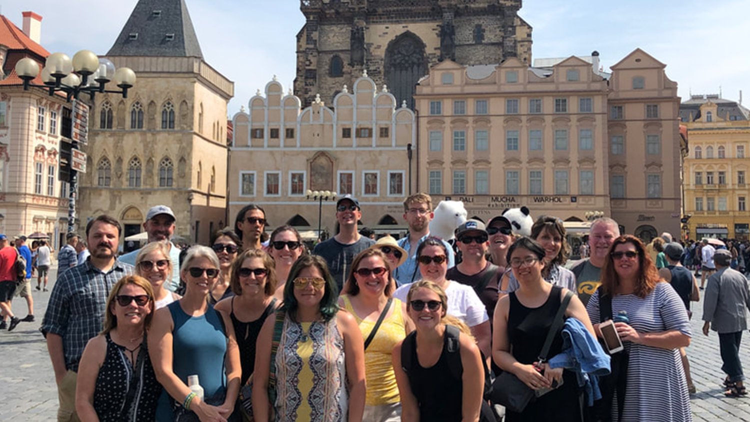 A group of in-service teachers on a previous overseas professional development trip