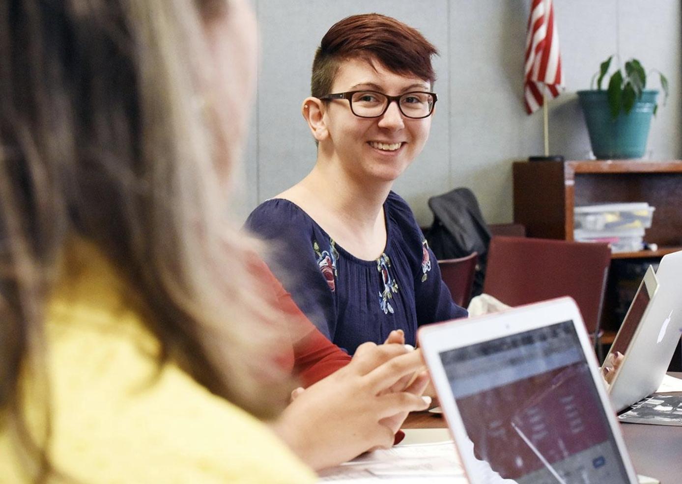 Photo of NC State Education senior Katie Martin during a summer internship