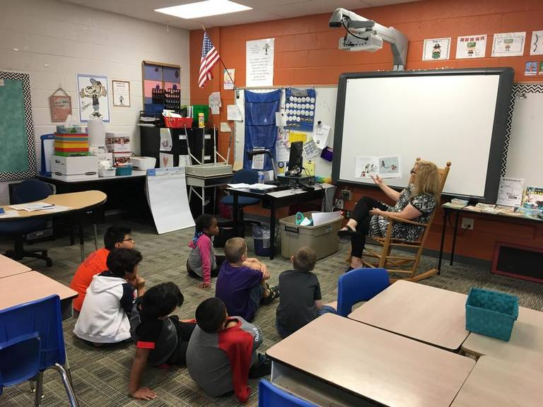 A photo of a summer reading camp from the News & Observer
