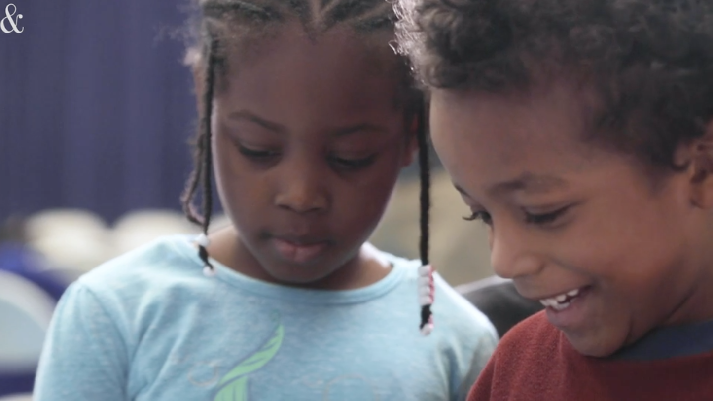 A still image from a News & Observer video on early literacy