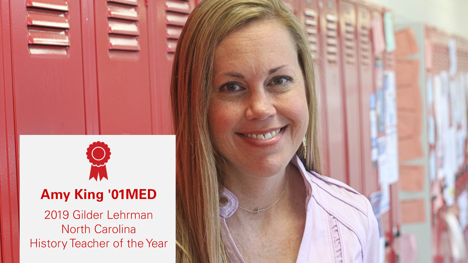 Amy King '01MED won N.C. History Teacher of the Year