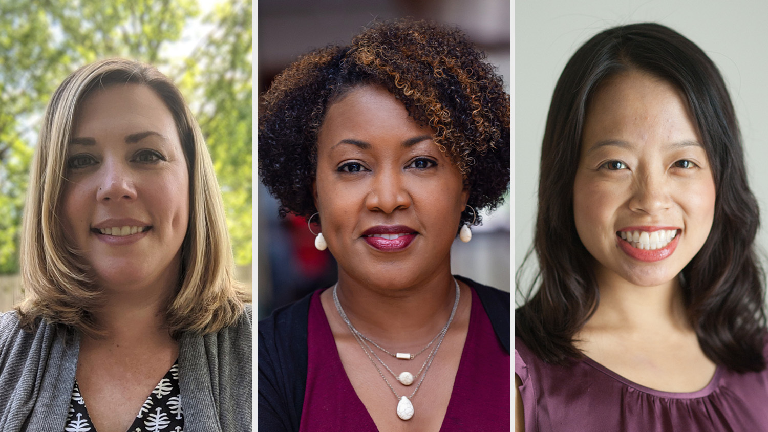 NC State College of Education Assistant Professors Michelle Falter, Chandra Alston and Crystal Chen Lee