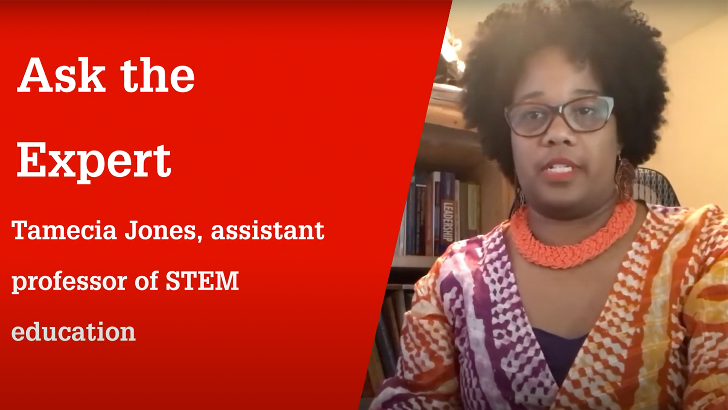 Tamecia Jones explains why K-12 students should learn about engineering concepts
