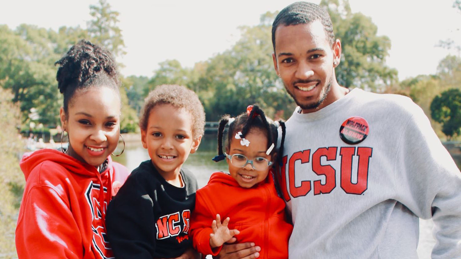 Janell Miller with her family