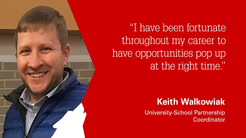 University-School Partnership Coordinator Keith Walkowiak