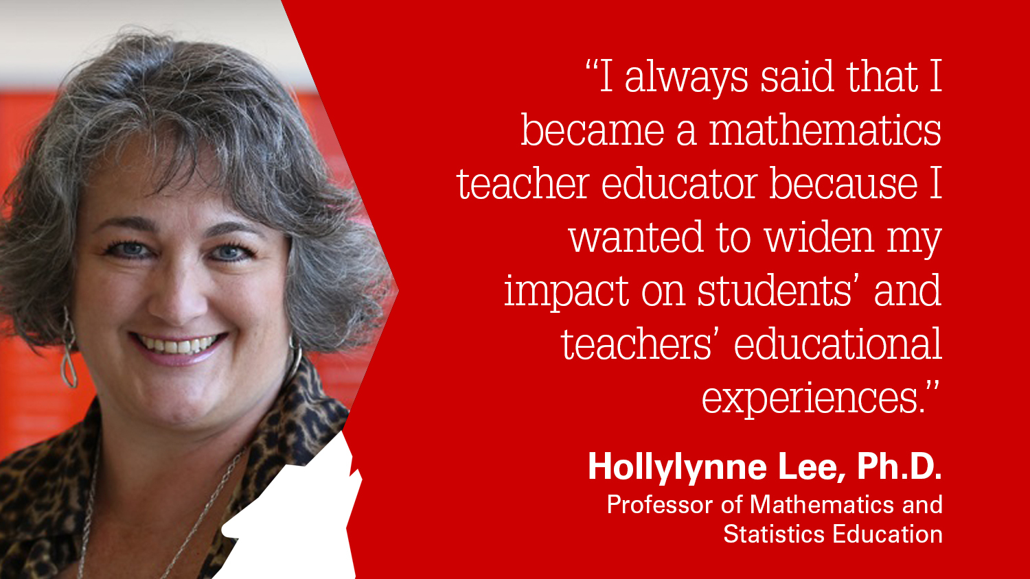 NC State College of Education Professor Hollylynne Lee is a finalist for the Robert Foster Cherry Award