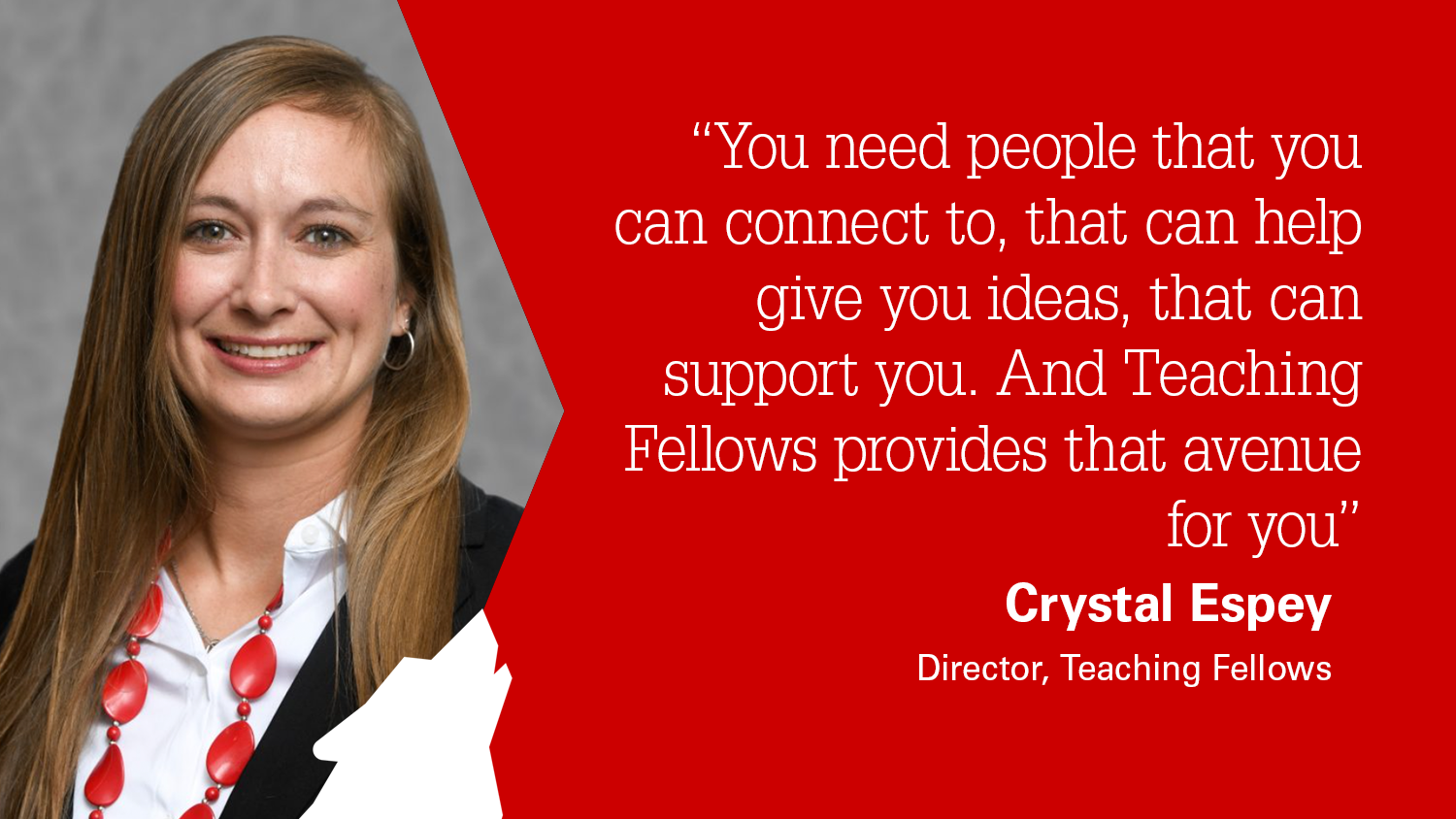 Crystal Espey discusses the Teaching Fellows program at the NC State College of Education