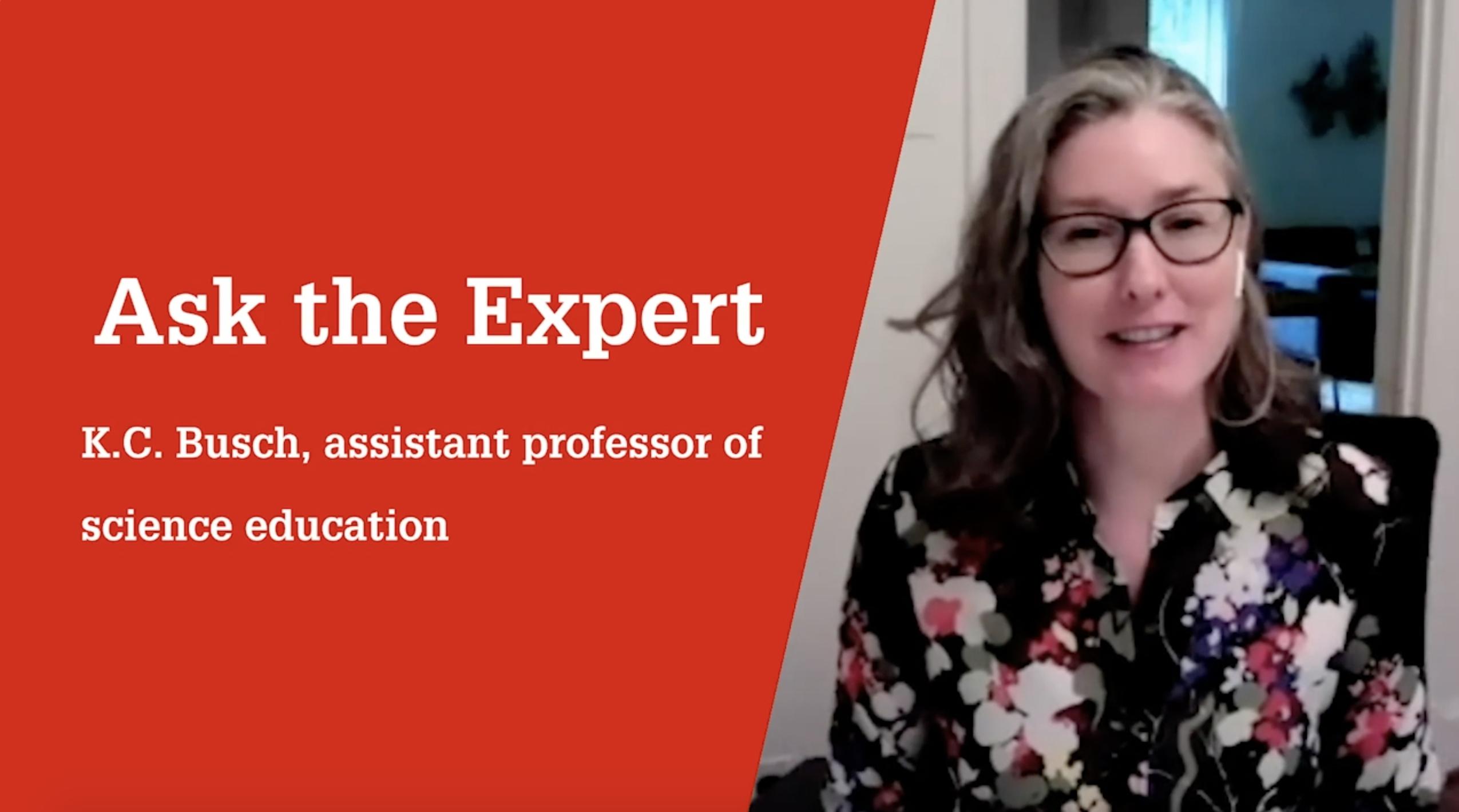 Assistant Professor K.C. Busch discusses climate change education