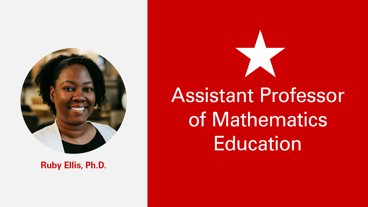 NC State College of Education Assistant Professor Ruby Ellis, Ph.D.