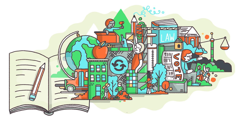 Civics Education illustration from Wall Street Journal