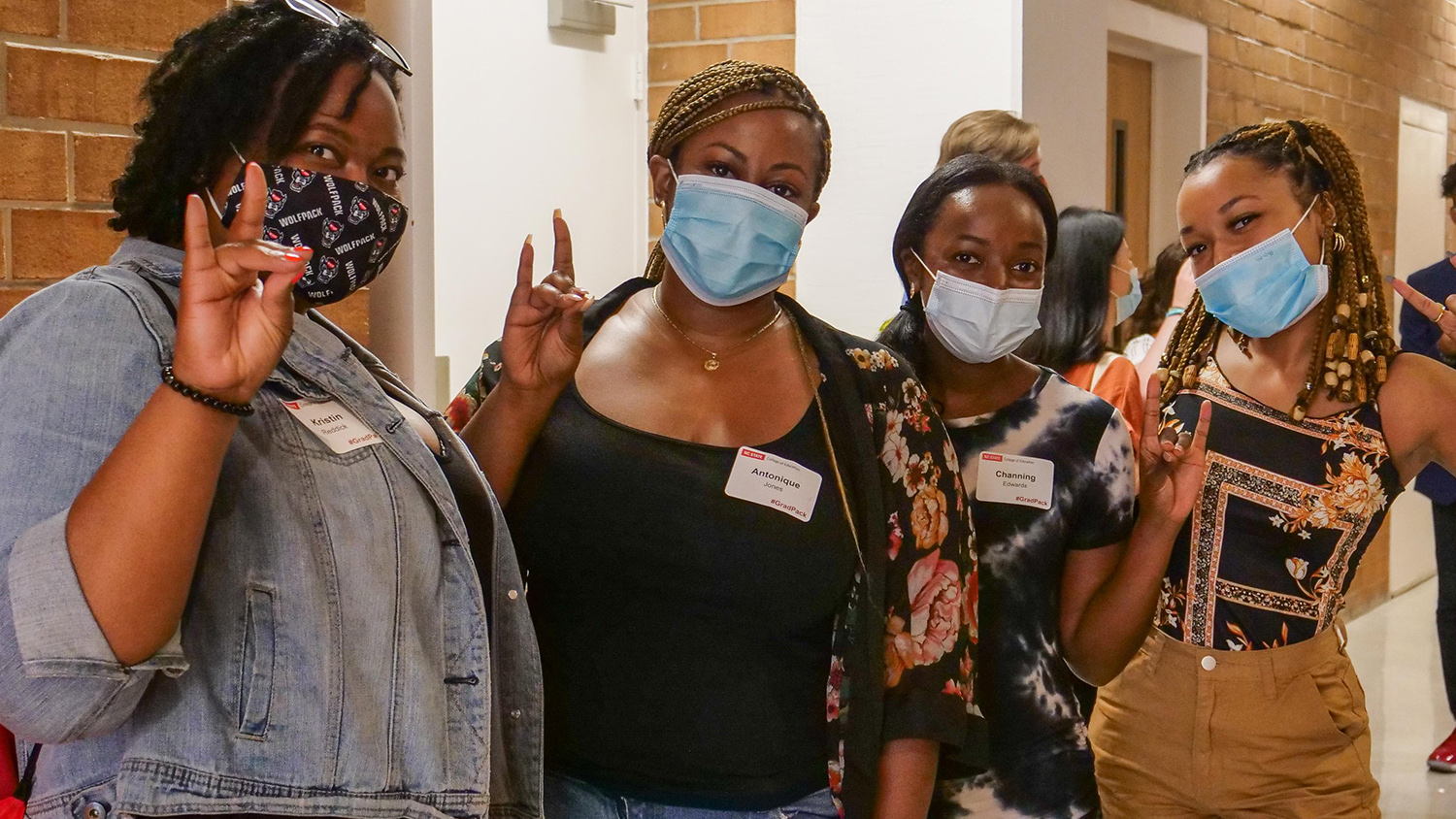 Students at New Graduate Student Orientation in August 2021