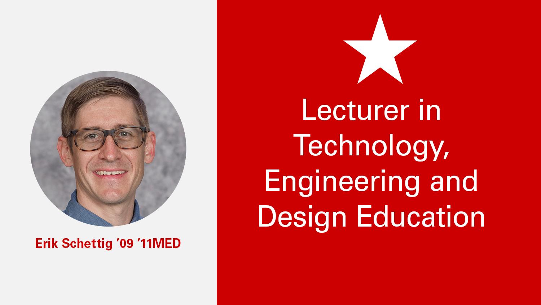 NC State College of Education Lecturer Erik Schettig