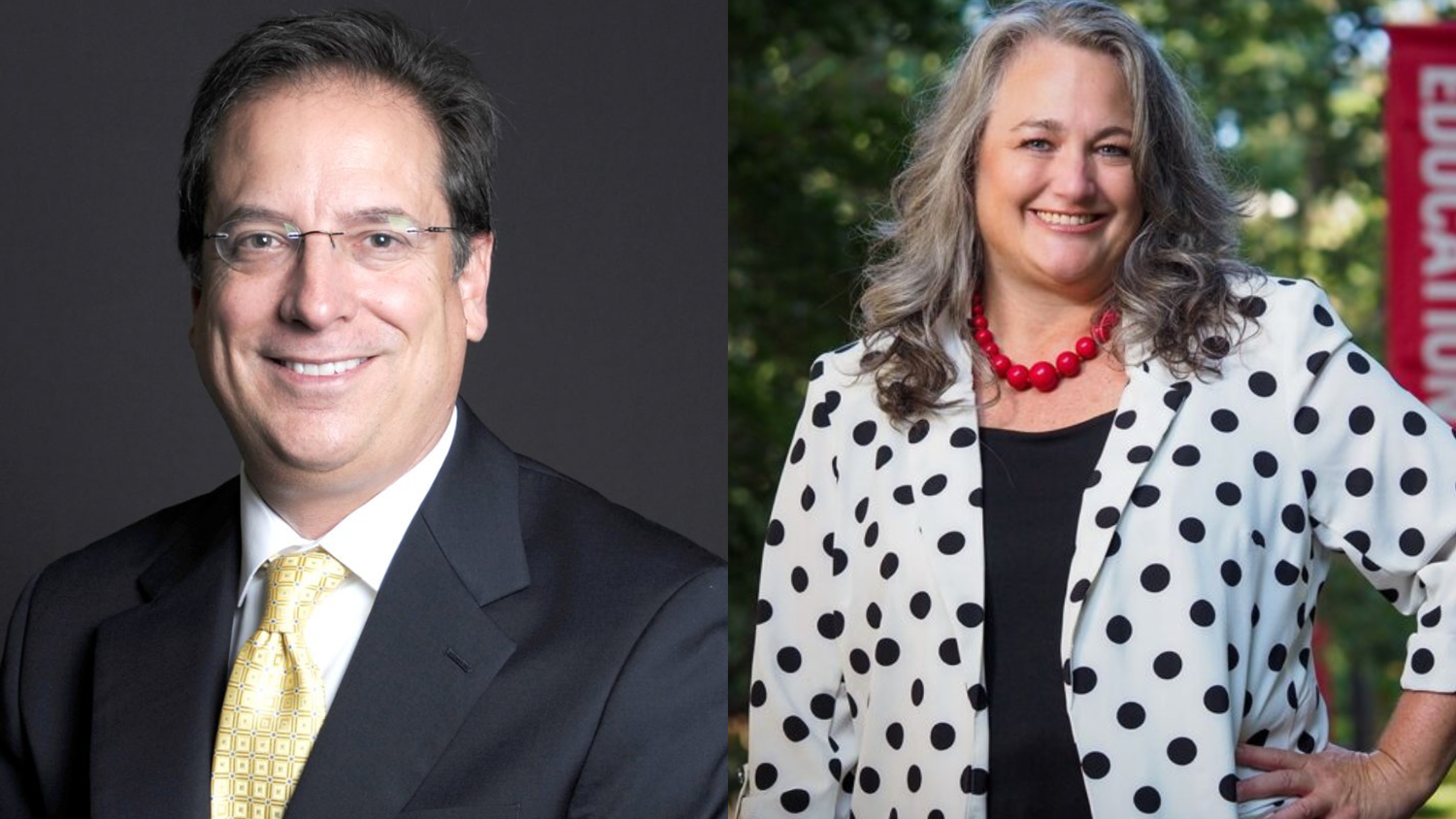 NC State College of Education Distinguished Professors Lance Fusarelli and Hollylynne Lee