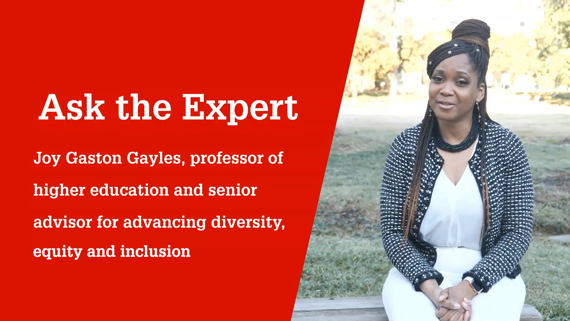 Professor Joy Gaston Gayles explains how educators can promote equity in their schools
