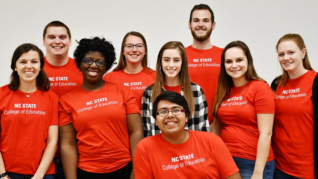 NCState College of Education Student Ambassadors 2018-2019 Group Photo