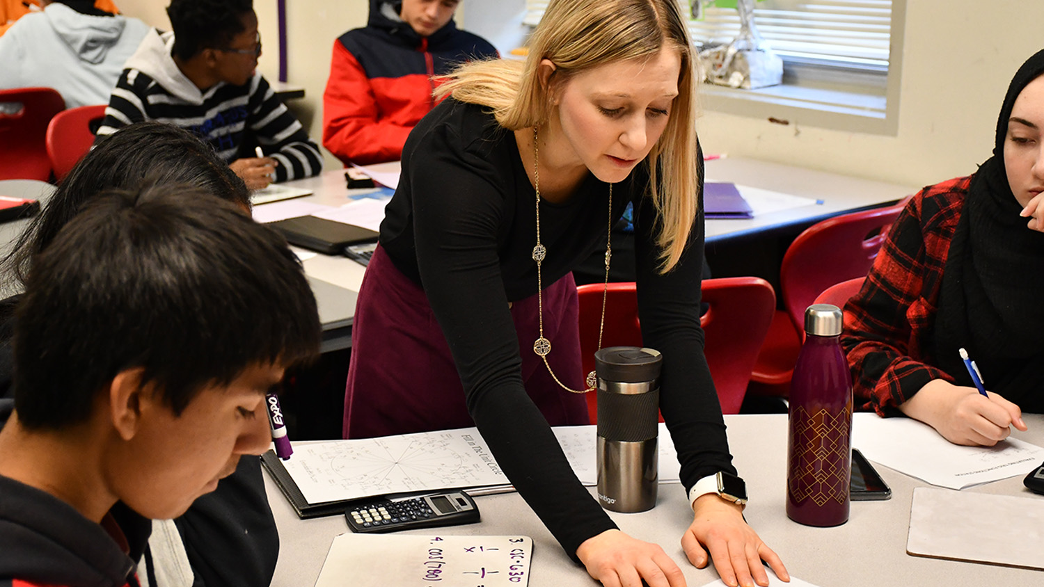 Hailey Mesmer student teaching at Wake STEM Early College High School