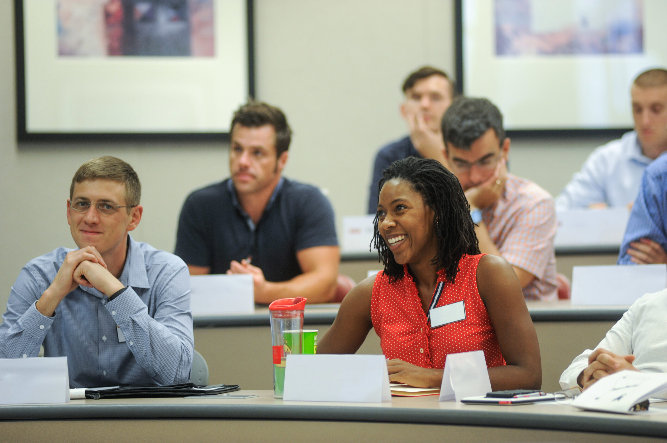 Students in a classroom setting at NCState.