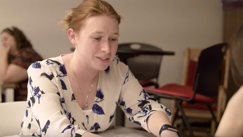 A K-12 teacher part of NC State's graduate literacy cohort