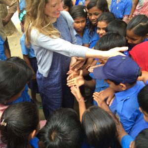 Dr. Bowden working with Save the Children in Bangladesh.