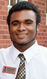 Carlos McClaney, junior technology, design and engineering education student
