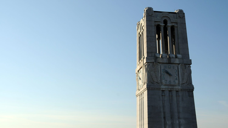 Memorial Belltower at sunset
