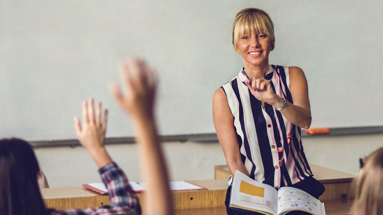 Math Teacher in Classroom
