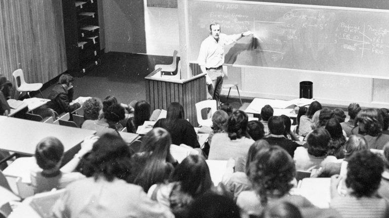 Poe Hall in 1970s