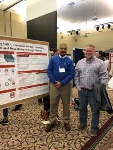 Rob Moore with faculty advisor Kevin Oliver