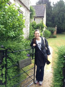 Sarah Glova studying abroad in England.
