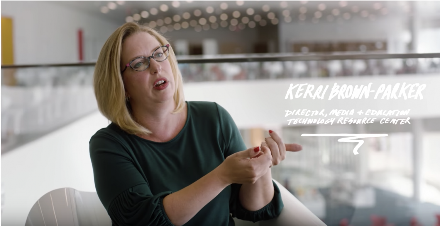 A still from a new video out by Google where NC State Education's Kerri Brown-Parker discusses Jamboard