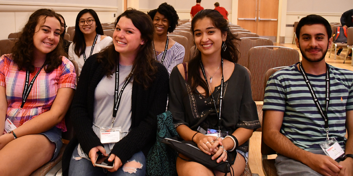 A photo from New Student Orientation at the NC State College of Education