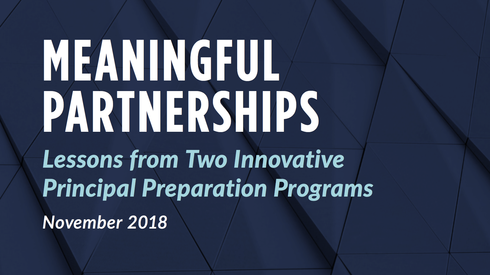 The cover of Meaningful Partnerships case study