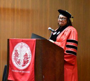 A photo of NC State Education graduate Yolanda Wilson