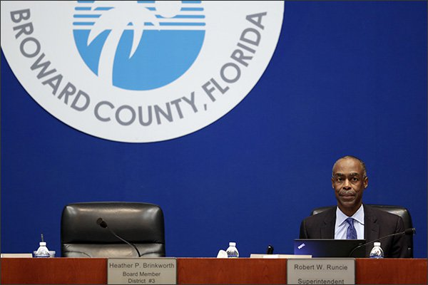 A photo of Broward County Superintendent Robert Runcie by Lynne Sladky/AP