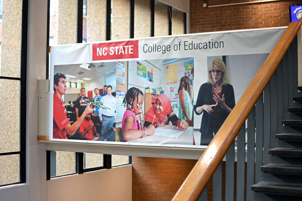 A photo of the entryway of the NC State College of Education's Poe Hall