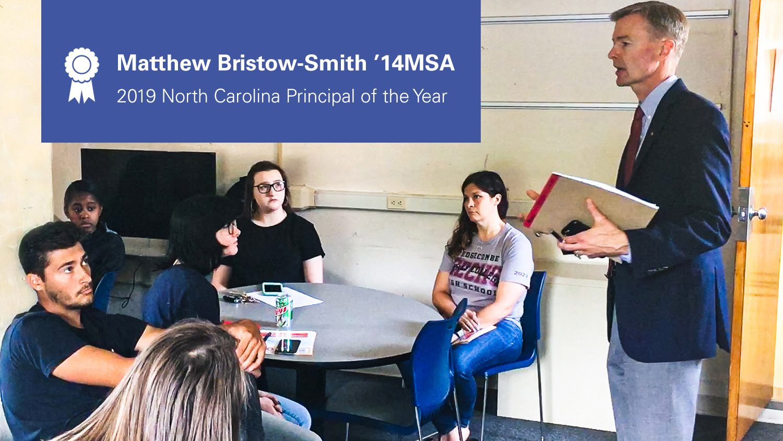 Matthew Bristow-Smith speaking to students.