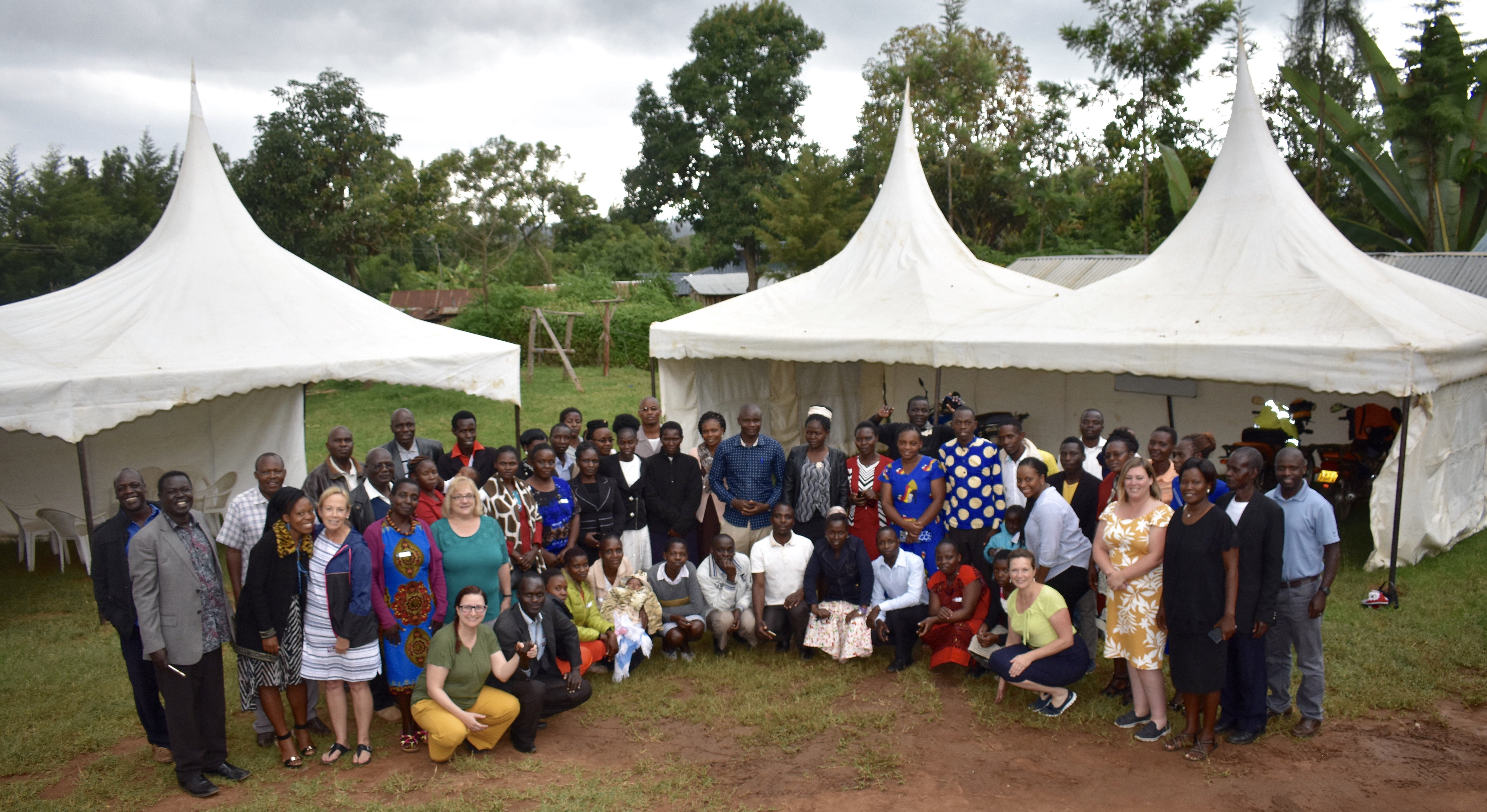 Michelle Falter, Ph.D., joins teachers in Kenya following a professional development workshop.