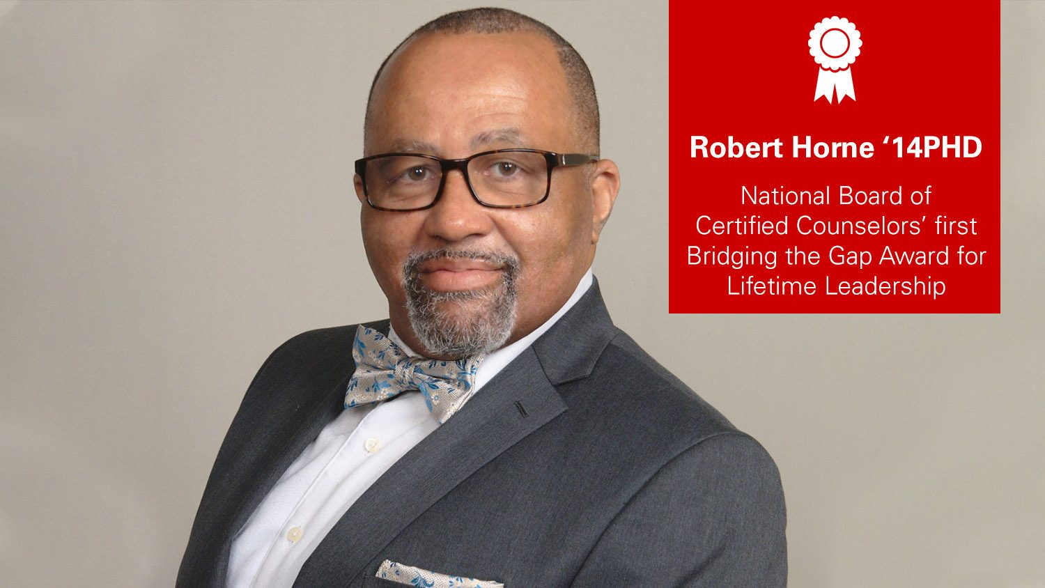 Robert Horne won an award for lifetime leadership