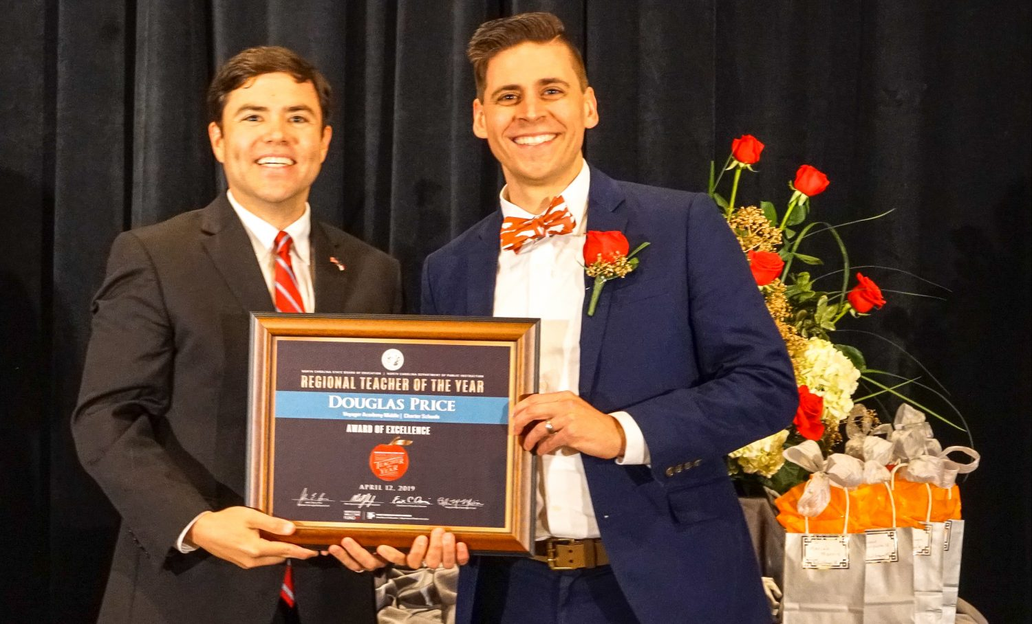 Douglas Price '13 was named NC Charter School Teacher of the Year
