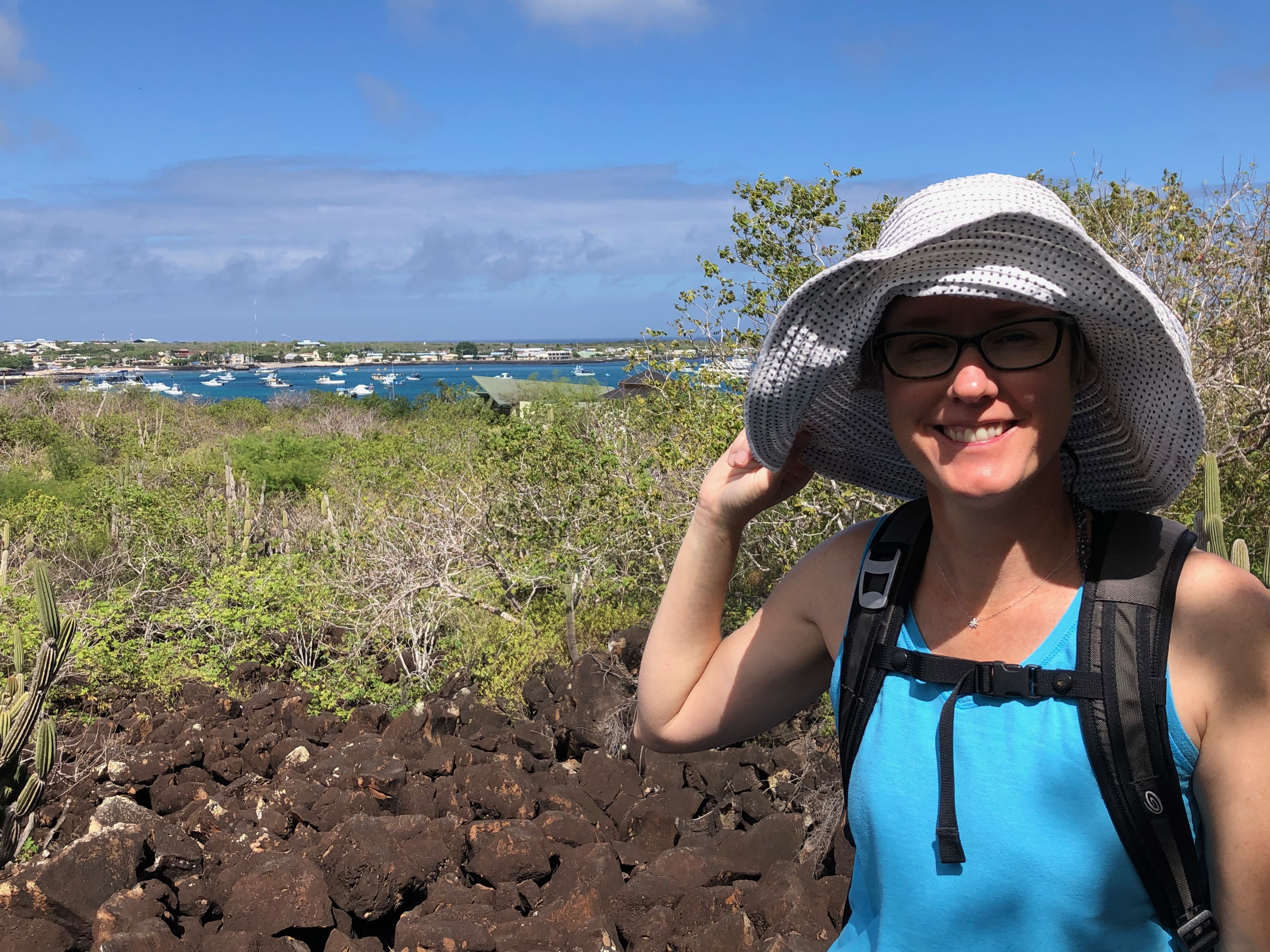 Meg Blanchard went to the Galapagos Islands to provide professional development for teachers