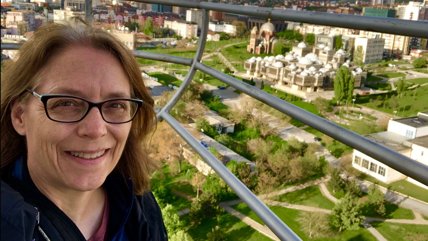 Teaching Professor Diane Chapman on a Fulbright Specialist trip to Kosovo
