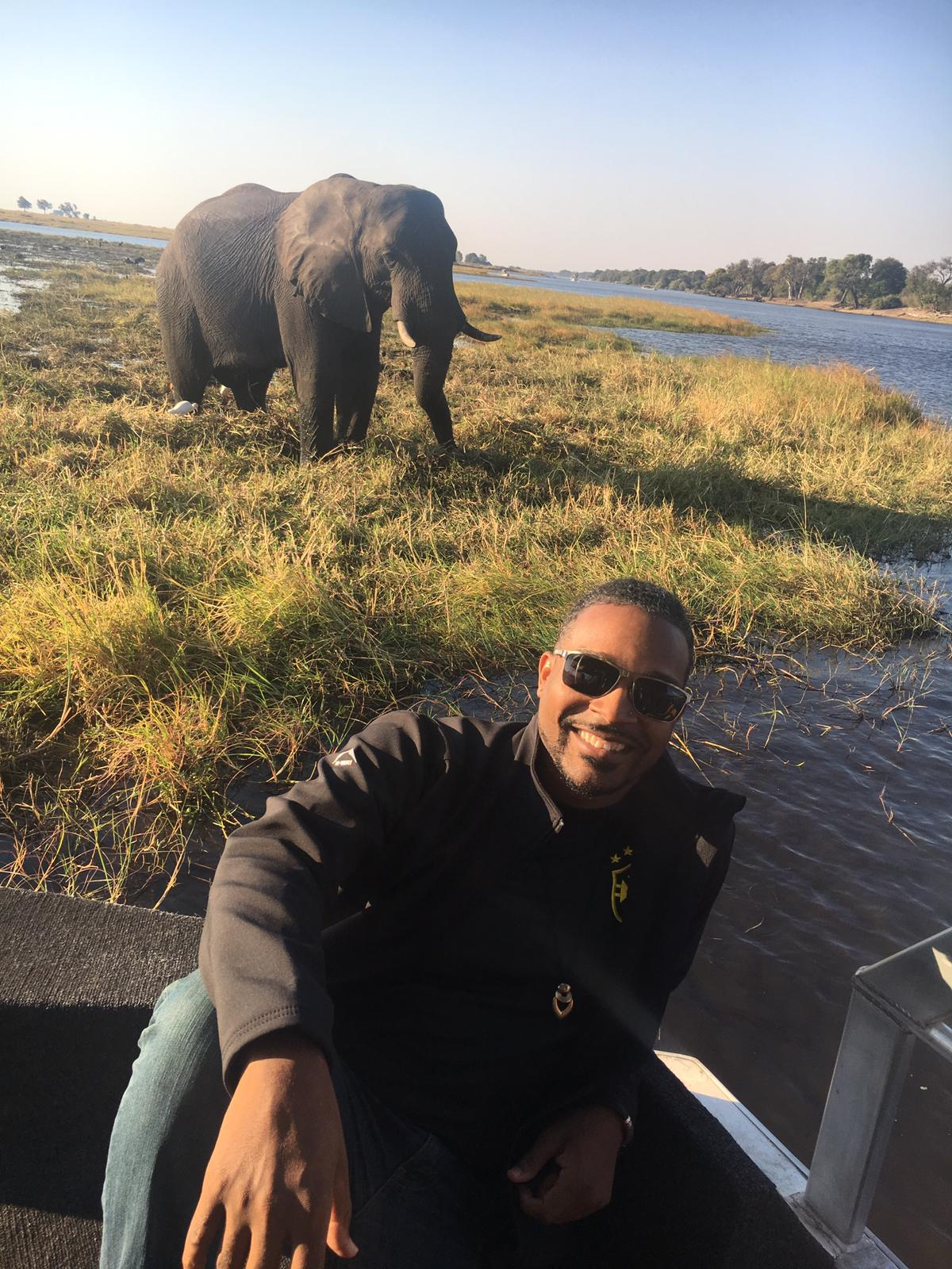 Associate Professor Cameron Denson during a July 2019 trip to Botswana