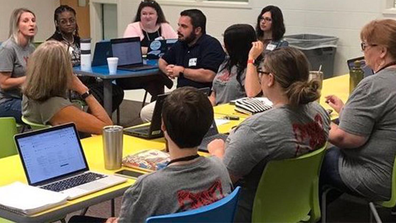 teachers receiving professional development