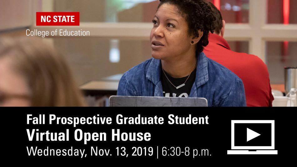 Graduate Student Virtual Open House Nov. 13