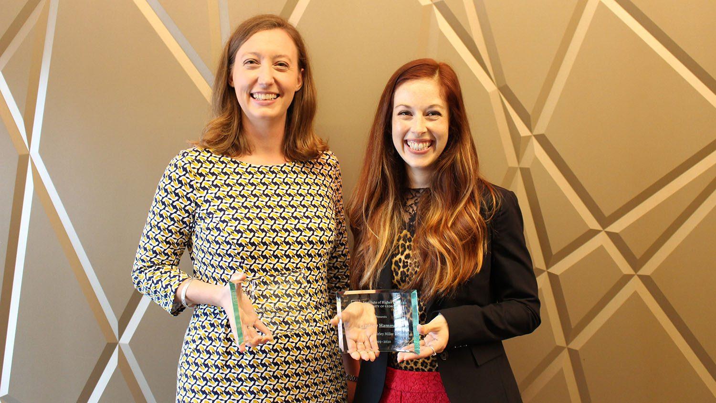 Melissa Whatley with her fellowship award