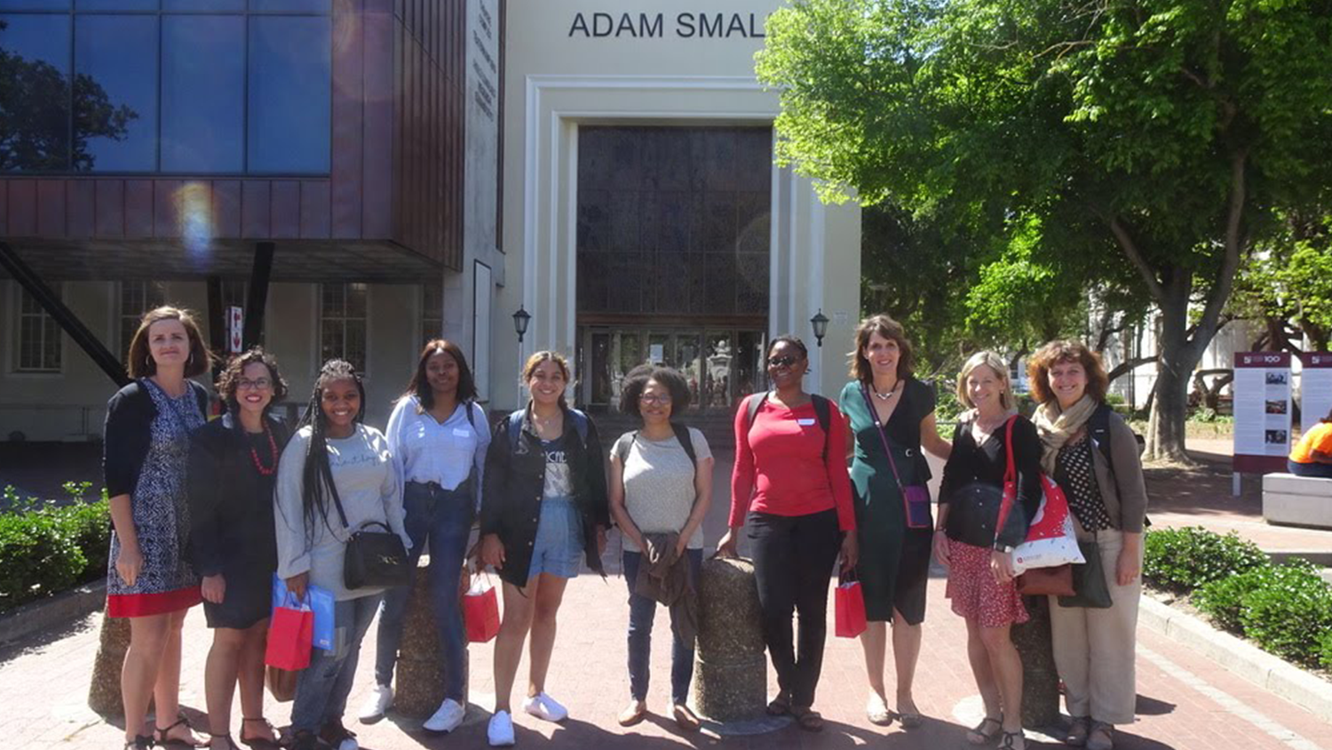 NC State College of Education Associate Professor Angela Wiseman with colleagues during a conference in South Africa