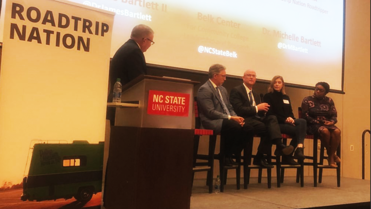 A panel discussion followed a screening of One Step Closer at the NC State College of Education